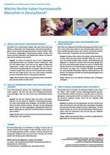 Arbeitsblatt Homosexuellenrechte Vorschaubild