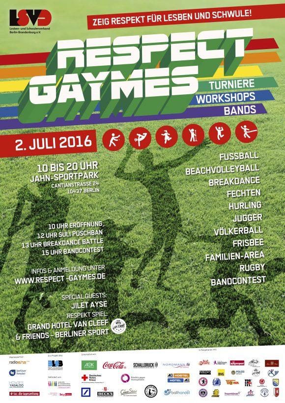 Respect Gaymes 2016 Plakat