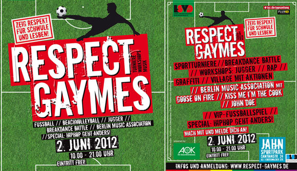 Respect Gaymes 2012 am 2. Juni