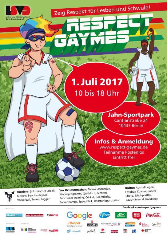 Plakat der Respect Gaymes 2017